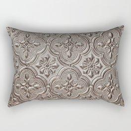 Silver Emboss Rectangular Pillow