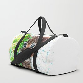 Little Leopard watercolor Duffle Bag