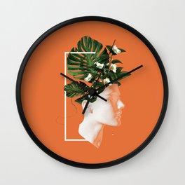 minima Lady Flowers Wall Clock