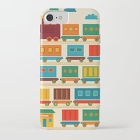 train iPhone & iPod Cases featuring Train by Kakel