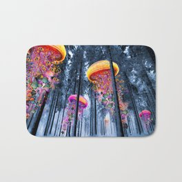 Winter Forest of Electric Jellyfish Worlds Bath Mat