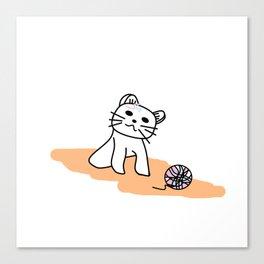 Snow Ball of Yarn Canvas Print