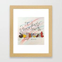 Sugarcoat Framed Art Print