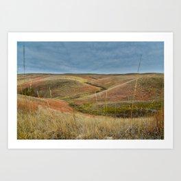October in Grasslands National Park Art Print
