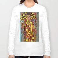 gustav klimt Long Sleeve T-shirts featuring Hygeia - An Ode to Klimt  by LadyJennD