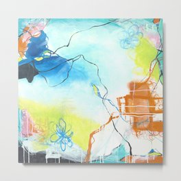 The Dreaming - Square Abstract Expressionism Metal Print