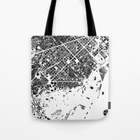 barcelona Tote Bags featuring Barcelona by Maps Factory