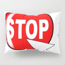 Computer Icon Stop Pillow Sham