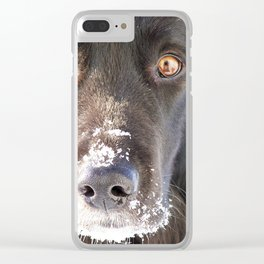 Gaze into my eyes Clear iPhone Case