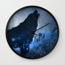 Twilight Wolf Wall Clock