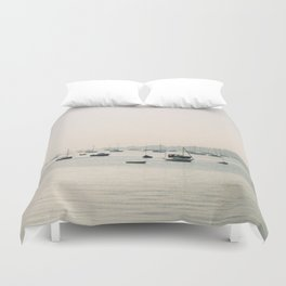 boats against the current Duvet Cover