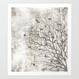 Tree Chimes Art Print