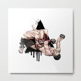 Nate Diaz vs. Kurt Pellegrino Metal Print
