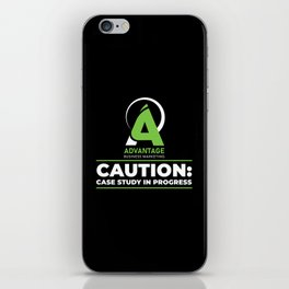 Advantage Business Marketing - Caution: Case Study In Progress iPhone Skin