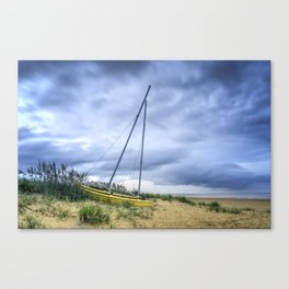 Sailboat Aground During Storm Canvas Print