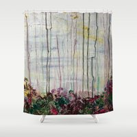 forrest Shower Curtains featuring Spring Forrest by Stephanie Cole CREATIONS