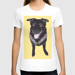 Happy Black Lab Dog T-shirt