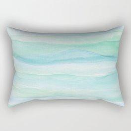 Blue Green Layers Rectangular Pillow