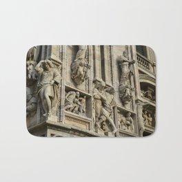 Milan Cahtedral / Exterior Study #2 / Pizzaza Duomo, Italy Bath Mat