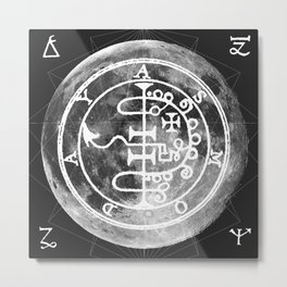 The Witches Moon Metal Print