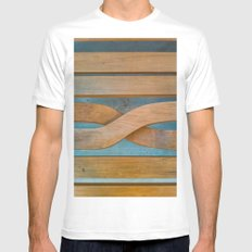 Cross the Wood White MEDIUM Mens Fitted Tee