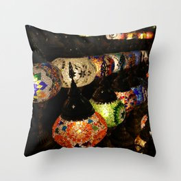 Genie of the Lamp Throw Pillow