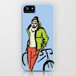 Biker boy iPhone Case