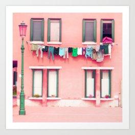 Laundry Venice Italy Travel Photography Art Print