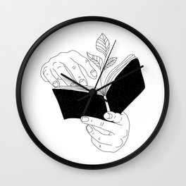 when you read inside the germinate flowers Wall Clock