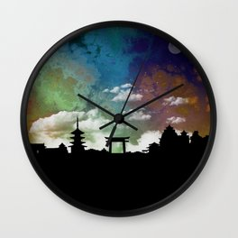 Kyoto Japan Skyline Cityscape Wall Clock