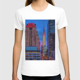 The New Yorker, 481 8th Ave, New York, NY, A Portrait by Jeanpaul Ferro T-shirt