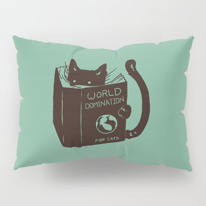 World Domination for Cats (Green) Pillow Sham