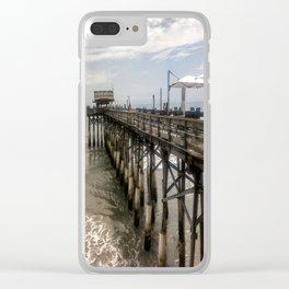 Cocoa Beach Pier Clear iPhone Case