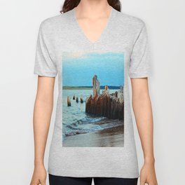 Beach Relics of a Time Gone By Unisex V-Neck