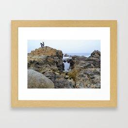 On Top in Monterey Framed Art Print