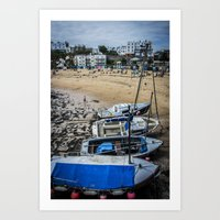 Boats at the Sea - Colour Art Print