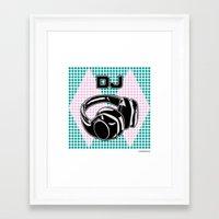 dj Framed Art Prints featuring DJ by Şemsa Bilge (Semsa Fashion)