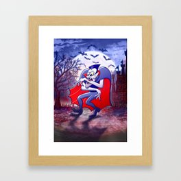 Dracula is Desperately Hungry Framed Art Print