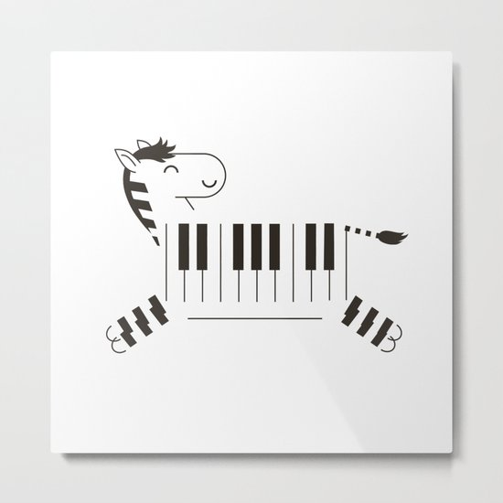 Life is like a piano Metal Print