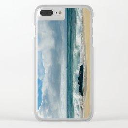 Hookipa Blue Sensation Clear iPhone Case