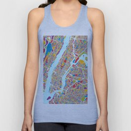 New York City Street Map Unisex Tank Top