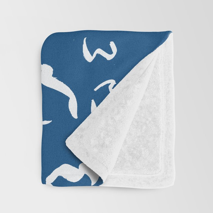 Freely Scribbled - Blue Throw Blanket