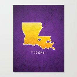 Louisiana State Tigers Canvas Print