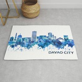 Davao City Philippines Skyline Blue Rug