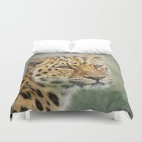 leopard Duvet Covers featuring Leopard by Pauline Fowler ( Polly470 )