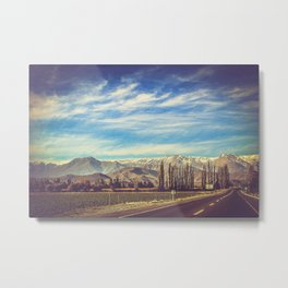 Scenic Mountain Landscape in The Andes Metal Print