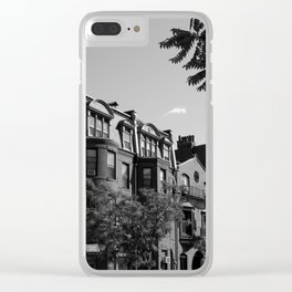 Along the City Streets Clear iPhone Case