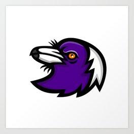 Australian Magpie Head Mascot Art Print