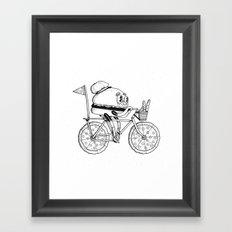 Pizzabike Burger Framed Art Print