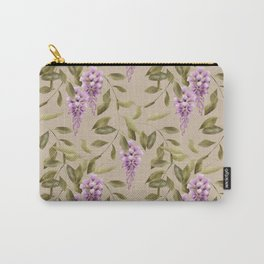 Seamless floral retro pattern background flowers Carry-All Pouch